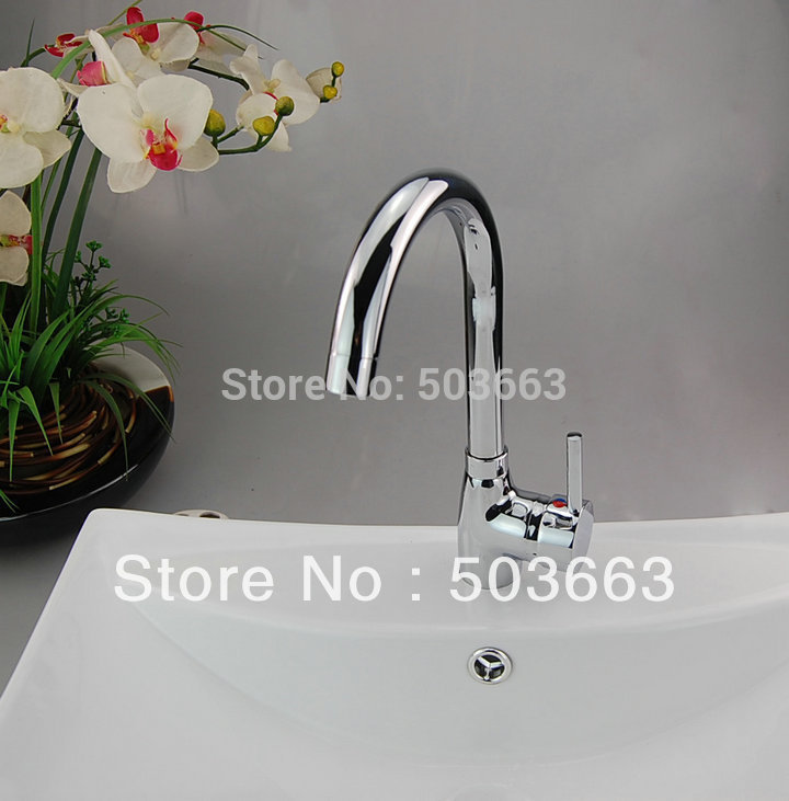 Contemporary Classic Chrome Finish Single Hole Installation Center set Kitchen Sink Faucet D-0114 polyscience single hole digital shanghai set