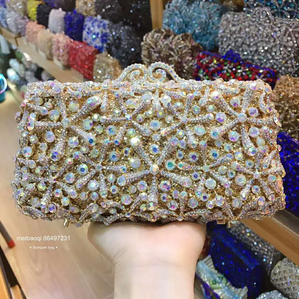 Women gold evening party bag diamonds elegant crystal clutch bags luxury bridal wedding party wallet purse handbag flower pursesWomen gold evening party bag diamonds elegant crystal clutch bags luxury bridal wedding party wallet purse handbag flower purses