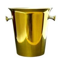 Stainless Steel Wine Ice Bucket Gold Ice Buckets 5L 169 09oz Ice Bucket Wine Bottle Cooler