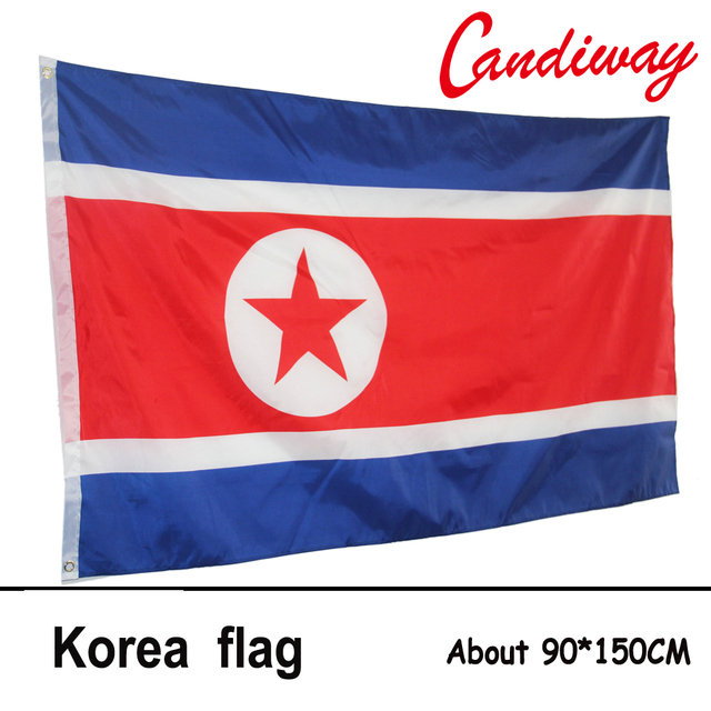 X Cm Democratic Peoples Republic Of Korea Flag Polyester - north flags