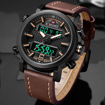 NAVIFORCE Top Brand Men's Fashion Digital Quartz Wrist Watch Outdoor Military Sports Watches Waterproof Clock Relogio Masculino 1