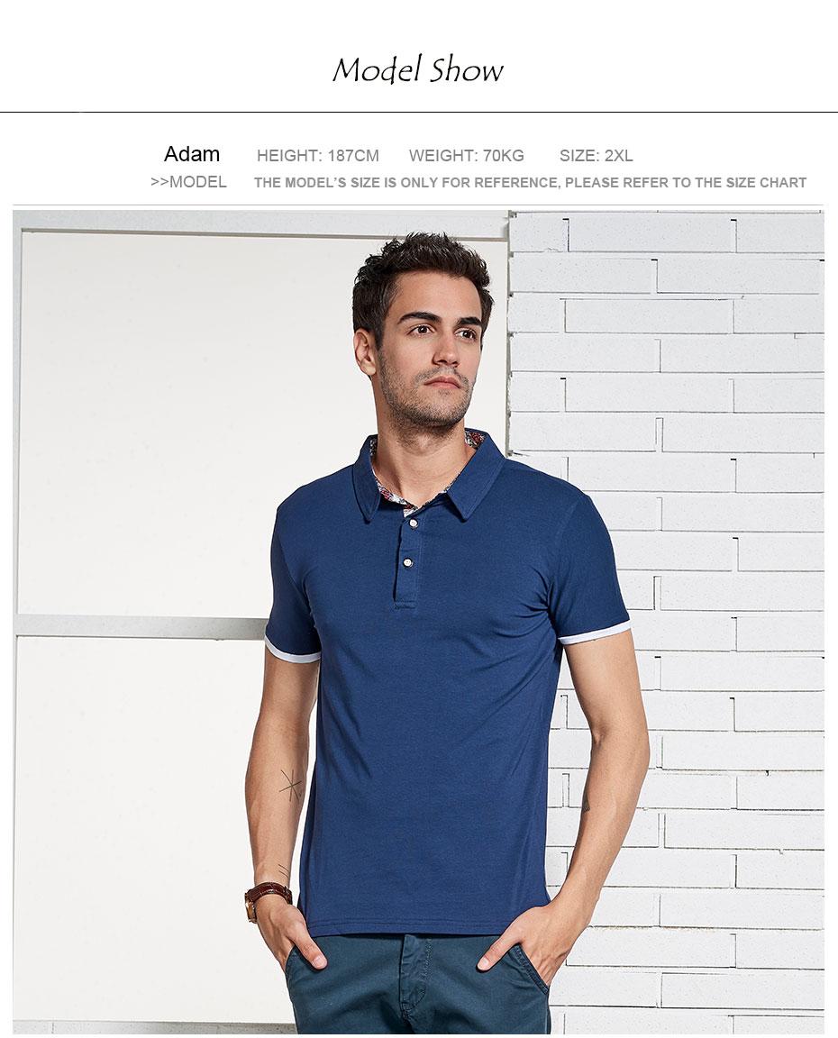 f26140c68f Htlb dos homens de negócios verão casual polo camisas marca novo ...