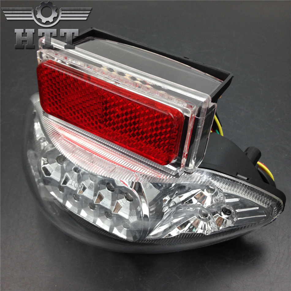 Aftermarket free shipping motorcycle parts LED Tail Light for Suzuki GSX1300R Hayabusa Katana GSX 600 GSX600F 750 CLEAR aftermarket free shipping motorcycle parts for motorcycle suzuki gsx r 600 750 1000 gsx 1300r hayabusa sv 650 tlr chrome