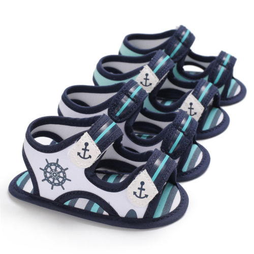 0-18M Summer Sandals Toddler Baby Girls Boys Unisex Casual Print Soft Sole Anti-slip Sneakers Flats Sandals