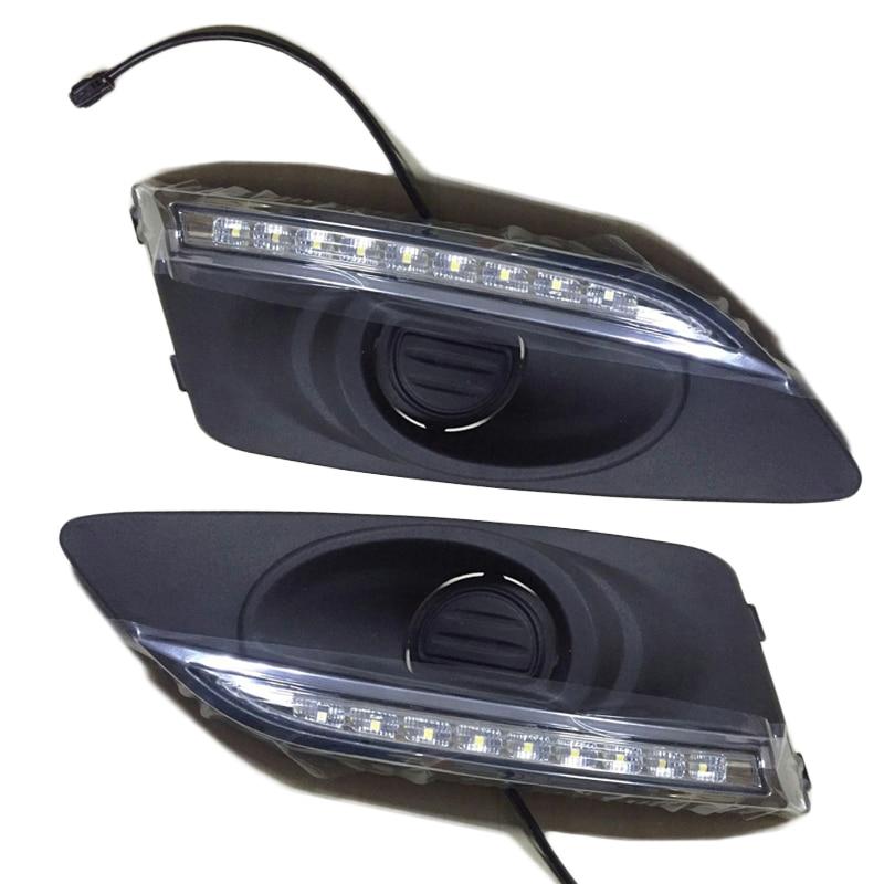 2PCS CAR LED DRL For Chevrolets AVEO sonic 2011 2012 2013 Daytime Running Lights headlight Daylight 12V fog lamp cover headlamp стоимость