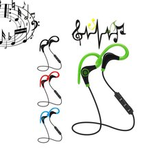 Wireless Bluetooth Earphones Headphones Sweatproof For Sports Gym Stereo Music Universal For Mobile Phone Wire Control цены онлайн