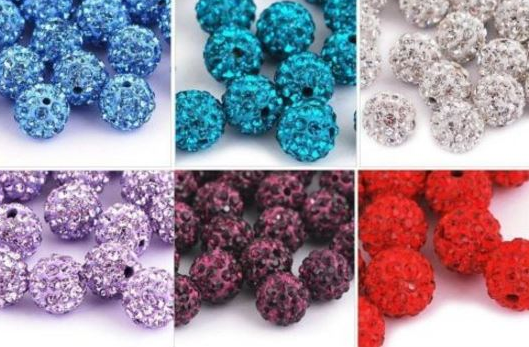 Beads & Jewelry Making Jewelry & Accessories Independent Hot Sale 50pcs 10mm Dutch Purple Shamballa Beads Crystal Disco Ball Beads Shambhala Spacer Beads Shamballa Bracelet Crystal Clay