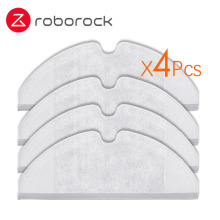 4Pcs Suitable for Xiaomi Roborock Robot S50 S51 Vacuum Cleaner Spare Parts Kits Mop Cloths Generation 2 Dry Wet Mopping Cleaning 4pcs original roborock parts mop cloths for xiaomi vacuum cleaner generation 2 dry wet mopping cleaning