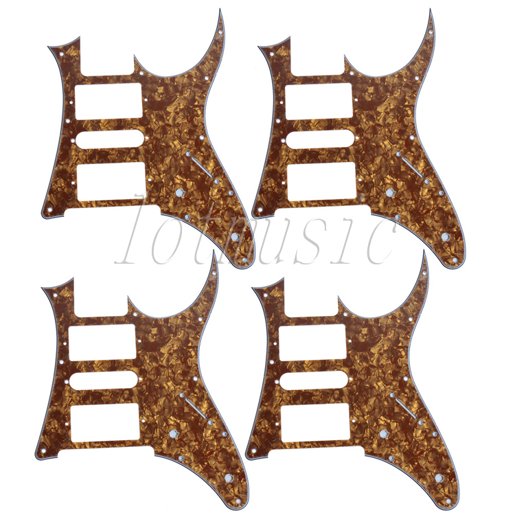 4Pcs Cinnamon Pearl HSH Guitar Pickguard For RG250 Style Replacement musiclily 3ply pvc outline pickguard for fenderstrat st guitar custom