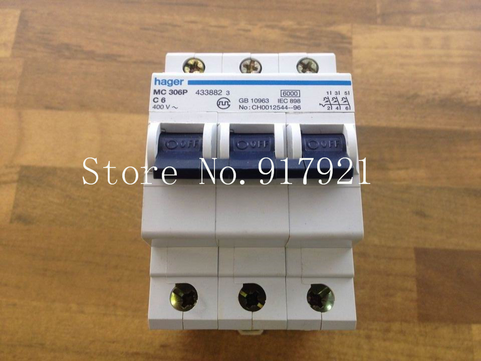 [ZOB] Hagrid MC306P miniature circuit breaker C6 3P6A  --5pcs/lot 10pdz47 60 c16 ac230 400v1p16a rated current 1 pole miniature circuit breaker qc