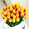 20pcs/lot Tulip Artificial Flower 2017 Real Touch PU Wedding Flowers Home Decoration Artificial Bouquet Decorative Flowers