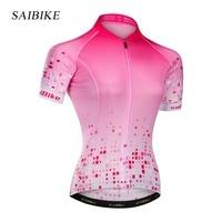saiBike Cycling Jersey Women Bike Top Shirt Summer Short Sleeve MTB Cycling Clothing Ropa Maillot Ciclismo Bicycle sports wear