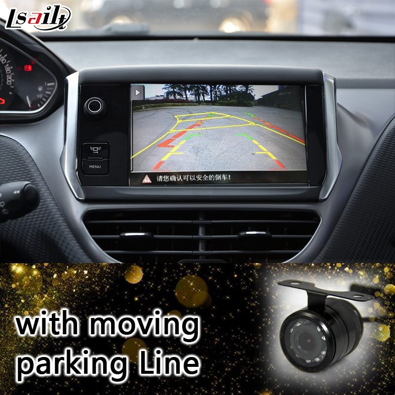 US $396 0 12% OFF|Android 6 0 Navigaiton Interface for 2014 2016 Peugeot  2008 SMEG+ with Moving Parking Guide Line ,Apps , Miracast-in Vehicle GPS