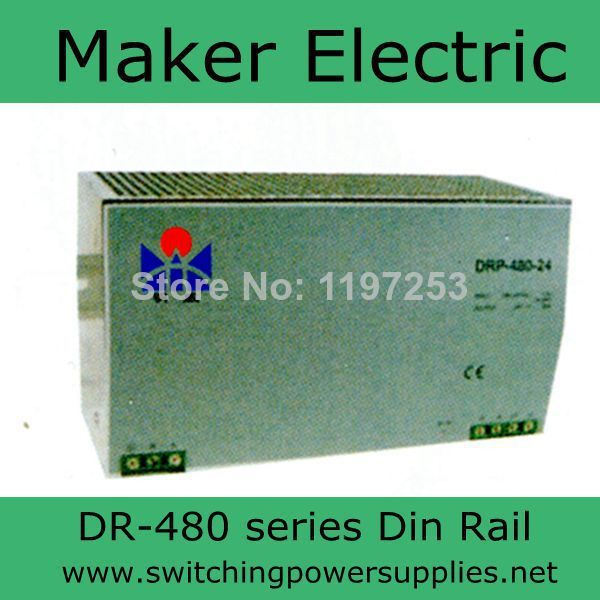 купить high quality 48V 10A 480w din rail single output switching power supply DR-480-48 недорого