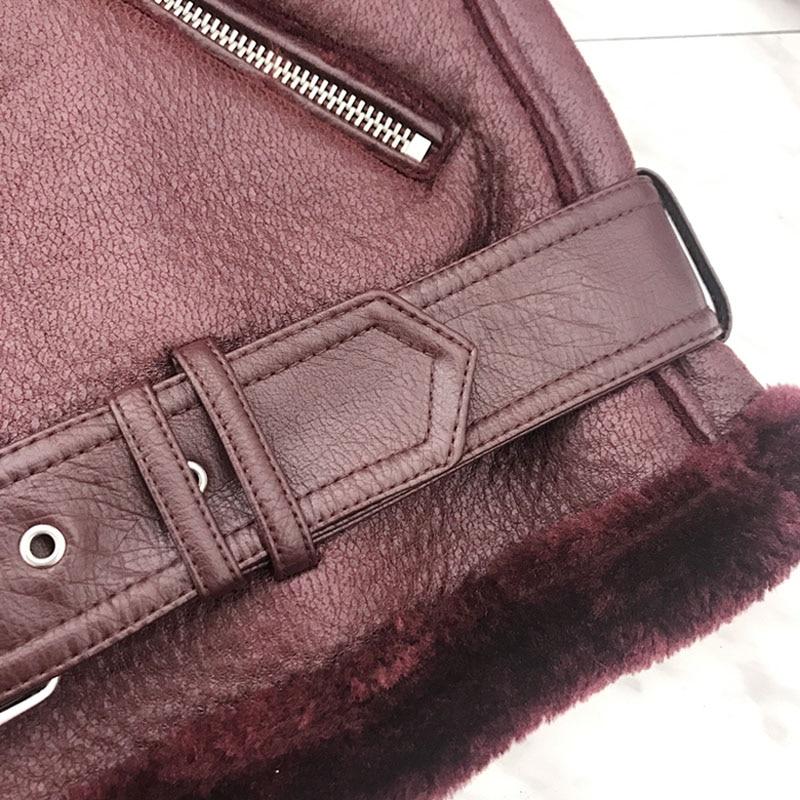 2018 nueva chaqueta de cuero de imitación de Invierno para mujer a la moda cálida chaqueta de motocicleta gruesa mujer chqueta mujer-in Cuero y ante from Ropa de mujer    2
