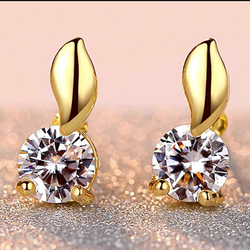 Silver Leaf Earrings Women Earrings Ladies Engagement Jewelry Accessories Shiny Zircon Earrings Ladies Personality Wild Jewelry