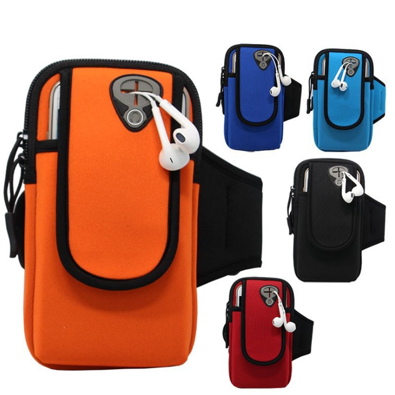 6.0 Inch Sport Armband Running Bag Case Universal Smartphone Mobile Phone Earphone Holes Keys Arm Bags For IPhone Samsung