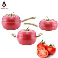 Wulekue Non Stick Aluminum Kitchen Soup Pot Fruit Pan Sauce Pan Boiler Tomato Shape No Fumes