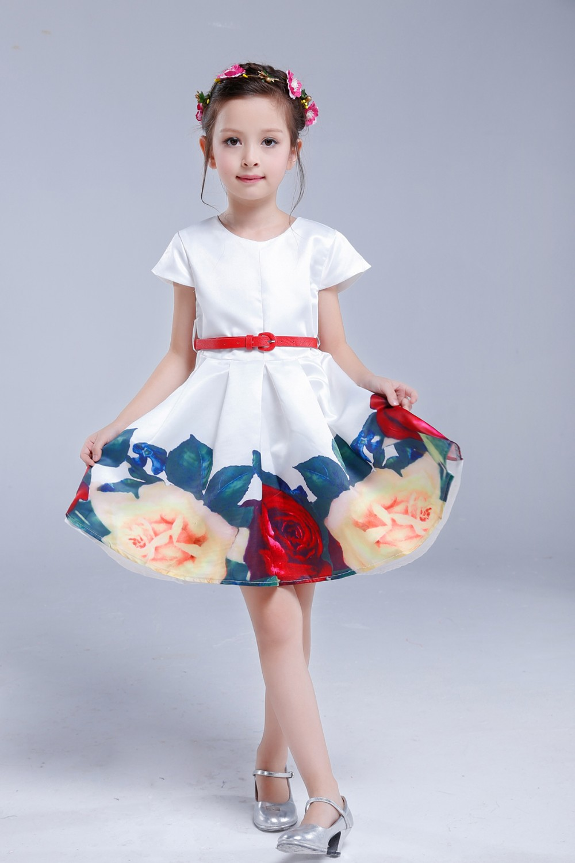 ᗛAiLe Rabbit Belababy Princess Girls Floral Dresses 2016 Summer ... a1072148d542