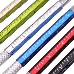 Image 3 - 50 個多機能ボールペンレベル定規ドライバー文具ペン良い商品は安くはない青