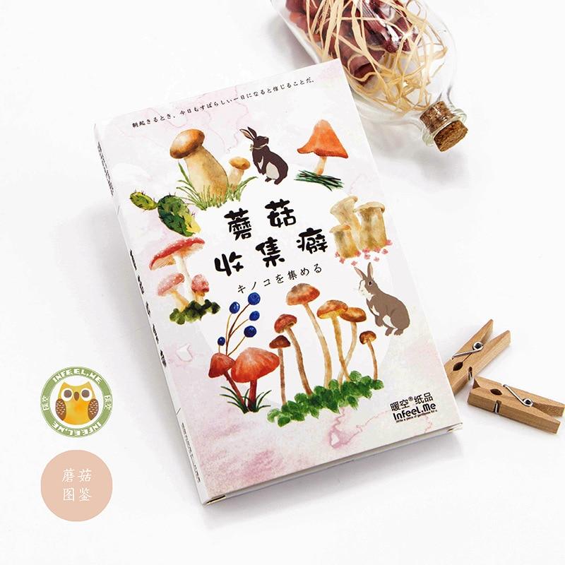 30pcs/lot The Mushroom Magpie Mind Cartoon Animals Kawaii Cartoon Postcards Cute DIY Envelop Gift Card Creative Bookmark