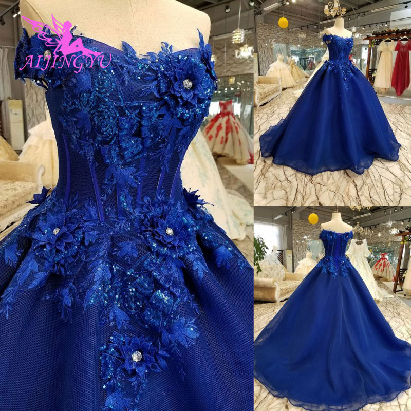AIJINGYU Wedding Dress 2018 And Get Free Shipping Plain Online Designer  Glitter Princess Bride Gown Wedding Dresses Women-in Wedding Dresses from  Weddings ... a69c22e12044