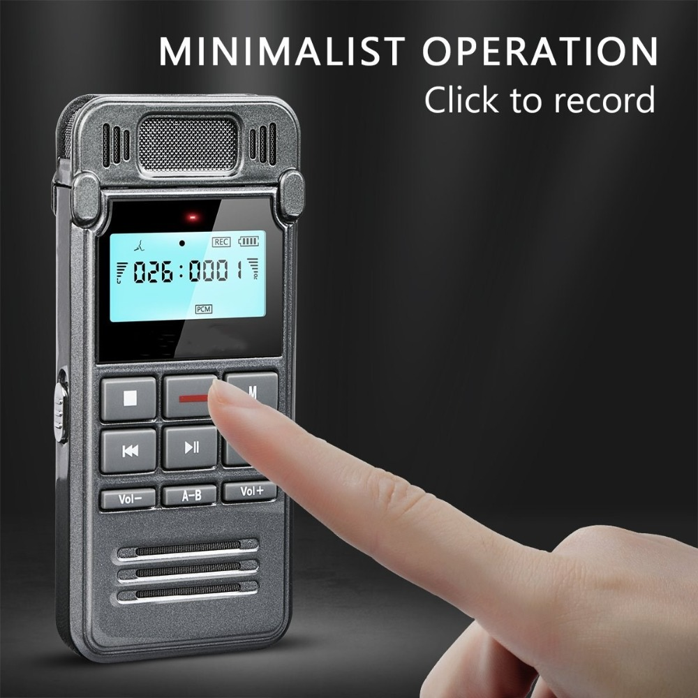 Lgsixe 8GB Sound Audio Recorder Dictaphone for Meetings Lectures, USB, Voice Activated, Double Microphone, Metal Casing