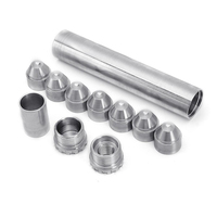 1set Fuel Trap Solvent Filter 6 Silver 6061 T6 Aluminum Fuel Filters accessories parts suitable For NAPA 4003 WIX 24003