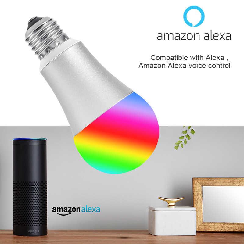 FUNRY WI-FI лампа умный дом светодиодные лампы E27 5 W затемнения RGB Цвет изменение APP дистанционного Управление свет лампы работу с Alexa