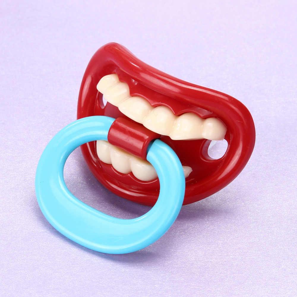 Силиконовая забавная Соска-пустышка для малыша Соска-пустышка Прорезыватели для зубов, игрушка для малышей, Pacy ортодонтический Teat, Детский Рождественский подарок, уход за малышом