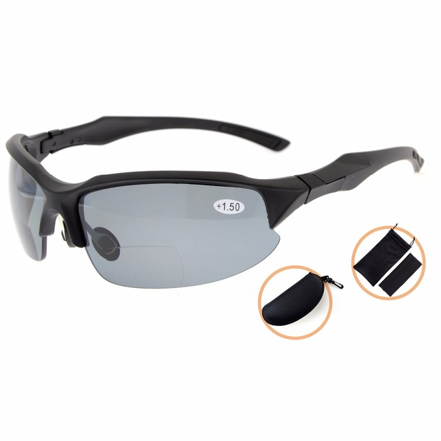 756041cad2 TH6188PGSG Eyekepper TR90 Unbreakable Sports Sunglasses Polycarbonate  Polarized Bifocal Sunglasses Half-Rimless Reading Glasses