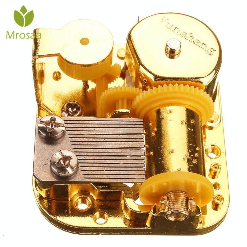 Mrosaa 18 Tones DIY Musical Box Mechanical Hand Crank Movements DIY Castle In The Sky Melody Brinquedos Gift Musical Boxes