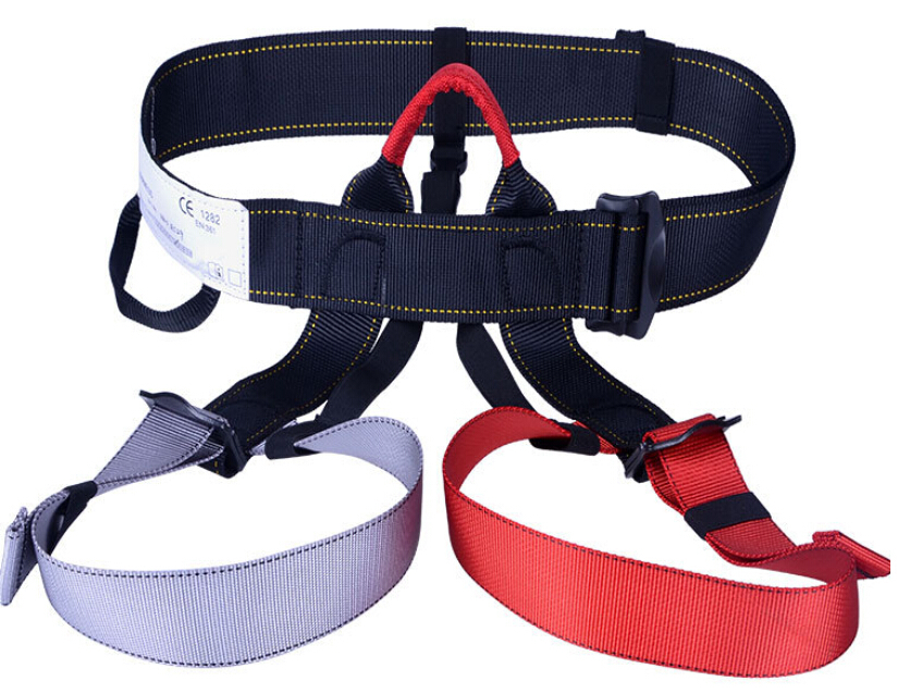 Outdoor climbing safety belts safety equipment harness climbing belt waist safety fashion solid belt 500KG high quality GM1413 outdoor rock climbing rappelling mountaineering full body safety harness wearing seat belt sitting bust protection gear