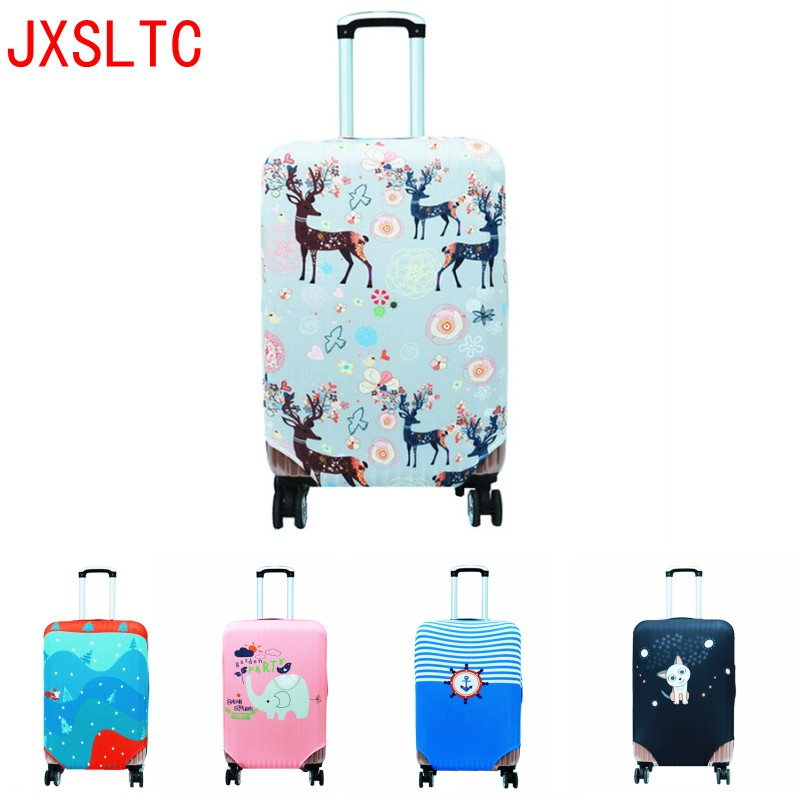 3D Cartoon Image Luggage Accessories Elastic Thick Dust Cover Car Walking Protective Sleeve Luggage Cover 18-32 Inch