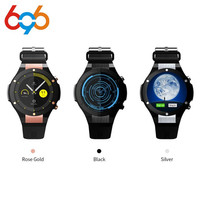 Microwear H2 Smart Watch MTK6580 Life waterproof 1.4 inch 400*400 GPS Wifi 3G Heart Rate Monitor 1GB+16G For Android IOS PK KW88