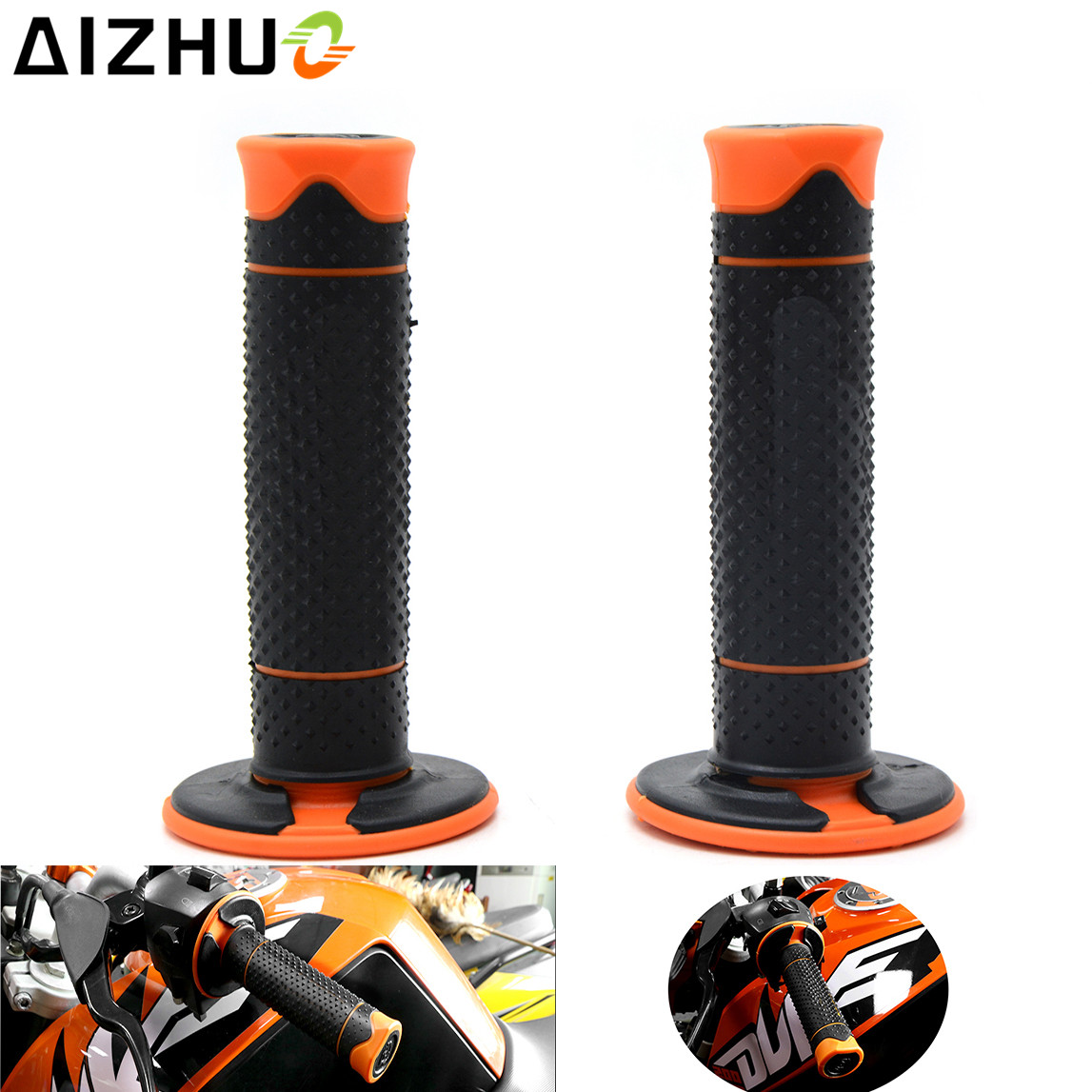 For KTM 125 200 390 Duke RC 125 200 390 RC200 RC390 RC8 RC8R 990 1290 Super Duke Motorcycle Handle Grip Rubber Handlebar Grips