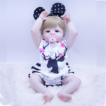 Golden straight hair Beauty angel reborn baby dolls 55cm hard silicone reborn baby girl dolls bebe reborn bonecas neiges toys new 22in 55cm soft cotton body lifelike newborn baby girl with golden hair stripe clothes adora silicone baby dolls reborn toys