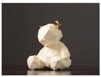 Nordic Домашний Декор Ation фигурка модель дом Украшения геометрический медведь Дисплей подарок для детей Домашний Декор Интимные аксессуары