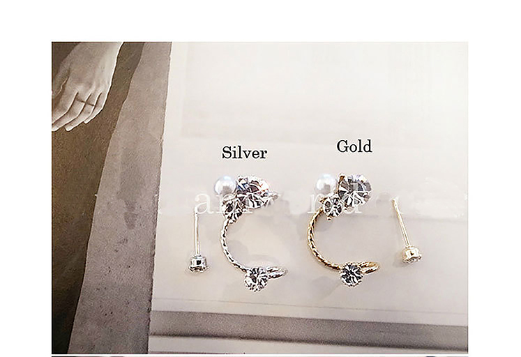 brinco ear cuff aretes clip on earrings for women simulated pearl clip  earrings fashion jewelry rhinestone oreille punk earcuffs-in Clip Earrings  from ... 8b2b4504d63f