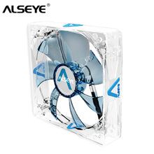 купить ALSEYE Computer Fan 120mm 3 pin PC Cooling Fan 12v LED High Airflow Silent Air Cooler for Computer Cooling Silicon Skin по цене 803.17 рублей