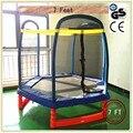 Gsd alta qualidade 7 pés crianças hexágono trampolim com tampa forma safetynet serve e saco de sapatos, ce, en71 aprovação