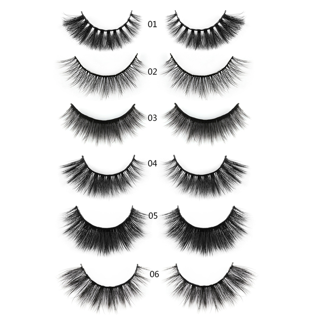 5 Pairs 3D Mink Hair Natural Cross False Eyelashes Long Messy Makeup  Fake Eye Lashes Extension Make Up Beauty Tools maquiagem 4