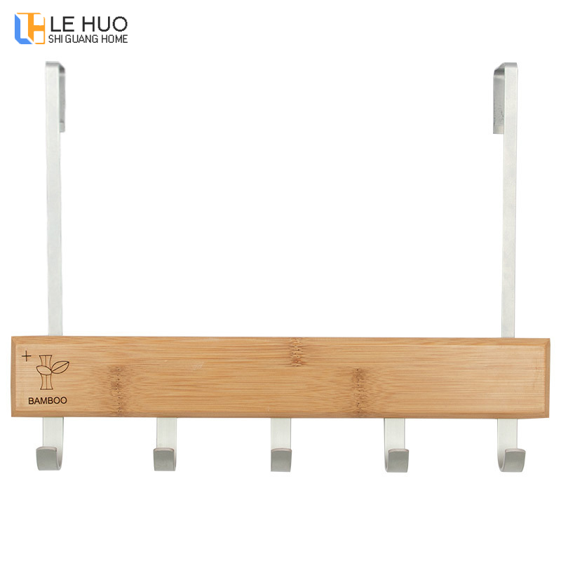 Bamboo Wood Creative Coat Rack Bedroom After The Door Hook Clothes Organizer Storage Shelf Fashion Home Furniture