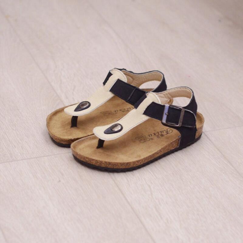 2016 Summer Children Sandals Baby Boys and Girls Cork Shoes Flip Flops Spring Kids Beach Sandals