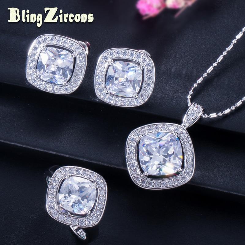 BlingZircons 9 Colors Divat Női Sterling Ezüst 925 Bélyeg Ékszer - Divatékszer