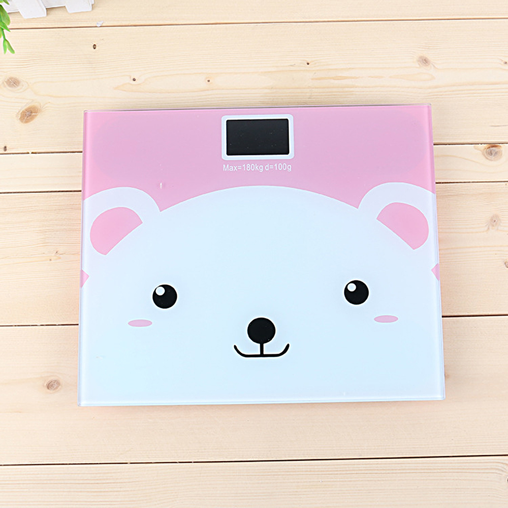 Hot Sale Electronic Personal Scale Digital Balance Cute Cartoon Body Weight Scale with Backlight Display Body Weighing Tool title=