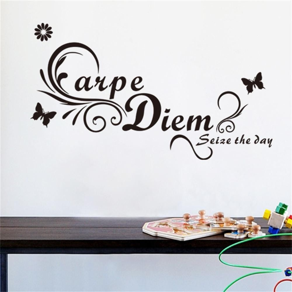 Carpe Diem Seize the Day Vinyl Wall Quotes Home Decal English Decor Art Mural