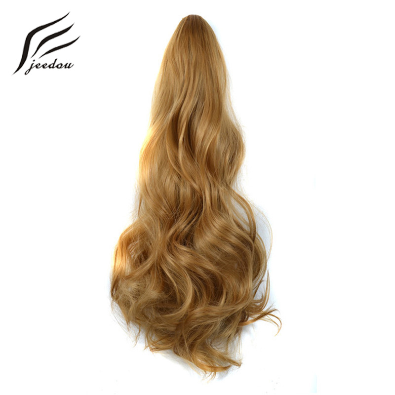 Hair Extensions & Wigs Jeedou Night Club Party Ponytails Wavy Hair 50cm 95g Synthetic Peuple Pink Red Ombre Color Cosplay Ribbon Drawstring Ponytail Wide Selection; Synthetic Extensions