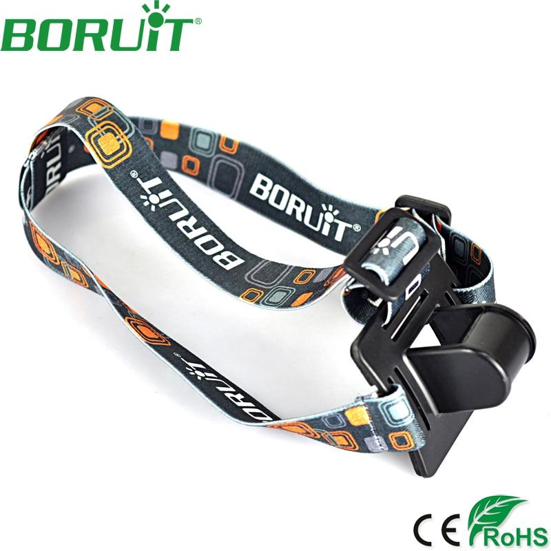 BORUiT Portable Adjustable Head Strap Mount Headband Helmet Strap Head Mount Cycling Accessories For LED Headlight Headlamp