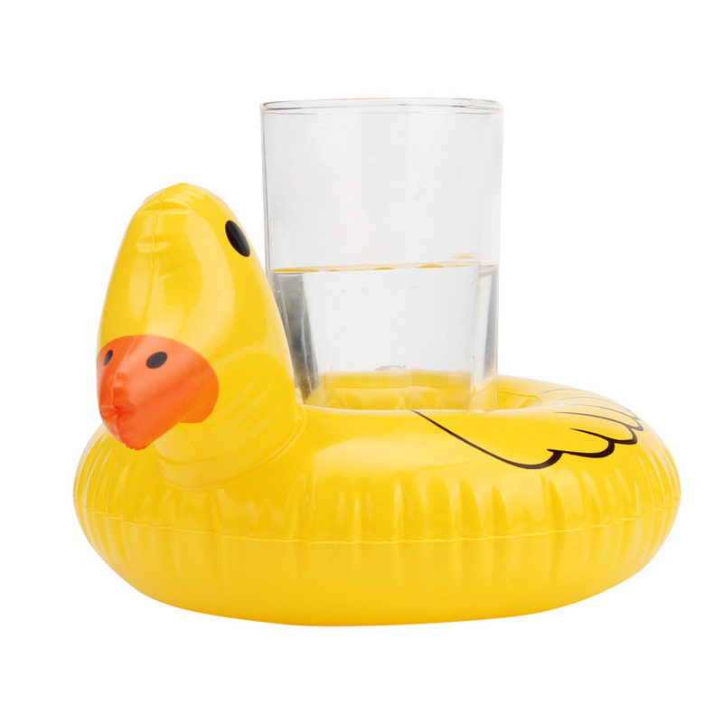 High Quality Cute Yellow Duck Floating Inflatable Drink Can Bath Toy Holder For Children Kids Bath Toys Great Fun Drop Shipping insight guides great breaks bath